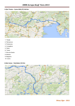 OMM Avrupa Keşif Turu 2015