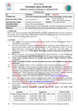 2015-2016 istanbul okul sporları avrupa yakası