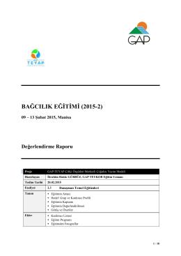 bağcılık eğitimi (2015-2)