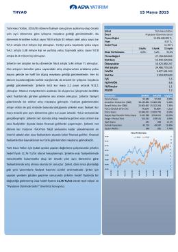 (THYAO) Fiyat Revizyonu Raporu