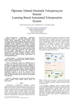Öğrenme Tabanlı Otomatik Teleoperasyon Sistemi