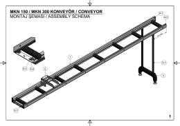 MKN 150 / MKN 300 KONVEYÖR / CONVEYOR MONTAJ ŞEMASI
