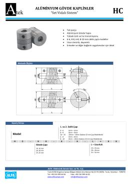 alüminyum gövde kaplinler - ATEK Elektronik Sensör Teknolojileri