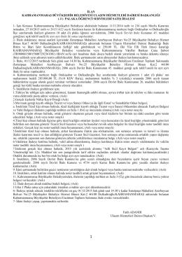 ( j ) palaka öğrenci servisler - Kahramanmaraş Büyükşehir Belediyesi