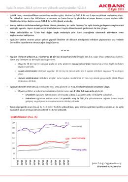 İşsizlik oranı 2015 yılının en yüksek seviyesinde: %10,4