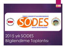 2015 yılı SODES Bilgilendirme Toplantısı