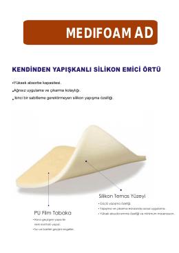 Kendinden Yapışkanlı Slikon Emici Örtü PDF