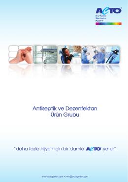 Endoskop ve Tıbbi Alet Dezenfektanları