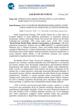 SUALTI ARAŞTIRMALARI DERNEĞİ - SAD-AFAG