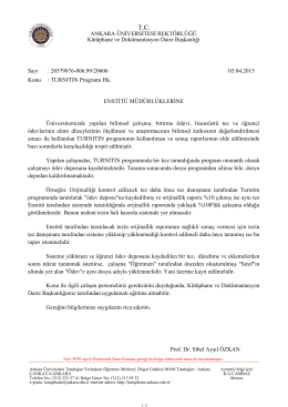 turnıtın - Ankara Üniversitesi