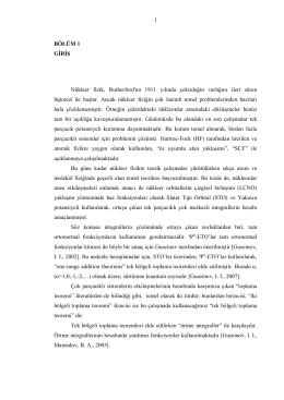 1 BÖLÜM 1 GİRİŞ Nükleer fizik, Rutherford`un 1911 yılında