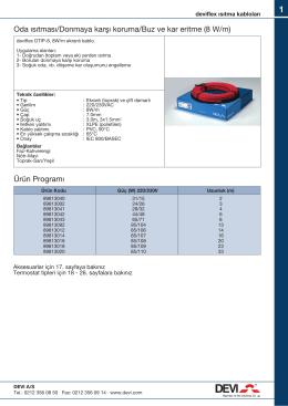 DEVIFLEX Isıtma kabloları