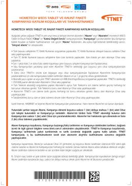 Hometech W835 + Raunt paketi kampanyamızın taahhütnamesi 5