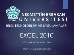 11. Hafta - Bilgi Teknolojileri ve Uygulamaları