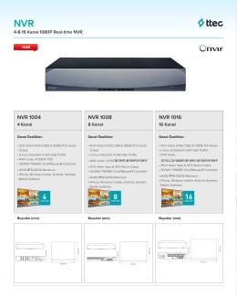 NVR1004-NVR1008-NVR1016 Datasheet