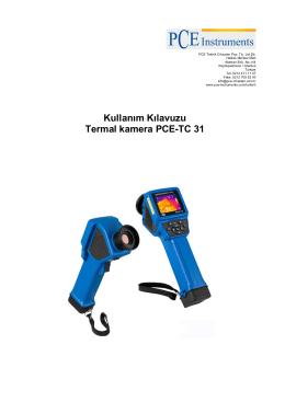 Kullanım Kılavuzu Termal kamera PCE-TC 31
