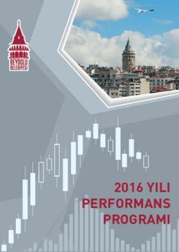 Beyoğlu Belediyesi 2016 Yılı Performans Programı`nı bilgisayarınıza