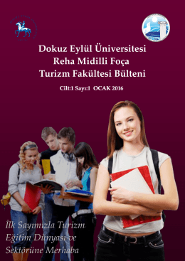Cilt 1 / Sayı 1 / 2016-1 - Reha Midilli Foça Turizm Fakültesi