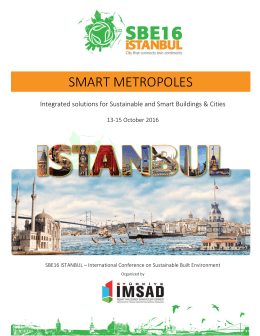 SMART METROPOLES - Conference Themes