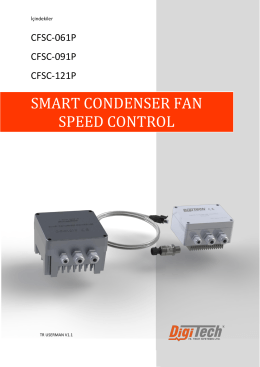 SMART CONDENSER FAN SPEED CONTROL