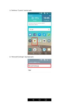 Android İçin E-posta Ayarları