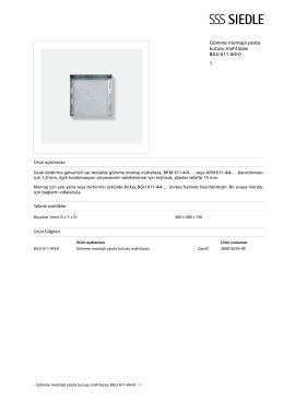 Gömme montajlı posta kutusu mahfazası BGU 611-4/4-0 1
