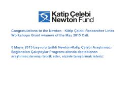 Congratulations to the Newton - Kâtip Çelebi Researcher Links
