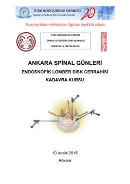 ANKARA SPİNAL GÜNLERİ - Türk Nöroşirürji Derneği