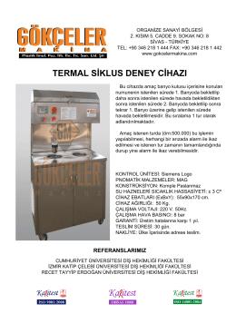 termal siklus deney cihazı