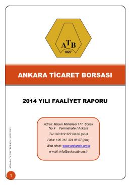 ANKARA TİCARET BORSASI - Ankara Ticaret Borsası