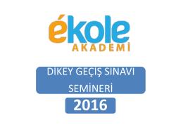 PowerPoint Sunusu - Ekole Akademi Bursa