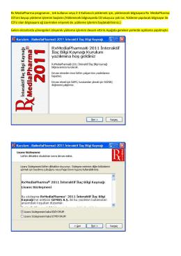 Rx MediaPharma programını , tek kullanıcı veya 2