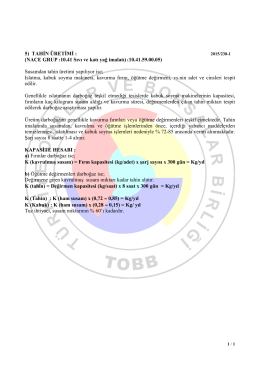 Tahin - TOBB