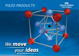 Piezo Products Company Brochure