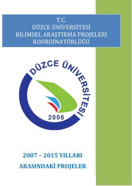 2015 Proje Özetleri - dübap