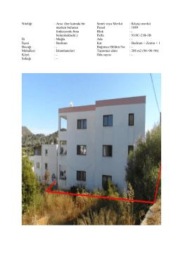 Niteliği : Arsa (her katında bir mesken bulunan fonksiyonlu bina