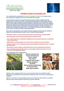 tarımda ozon uygulamaları