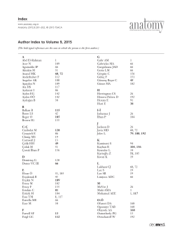 Author Index to Volume 9, 2015 Index