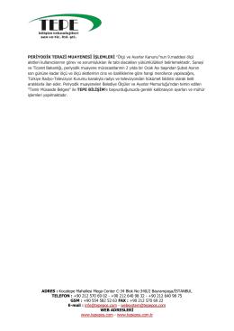 periyodik terazi muayenesi işlemleri - pdf