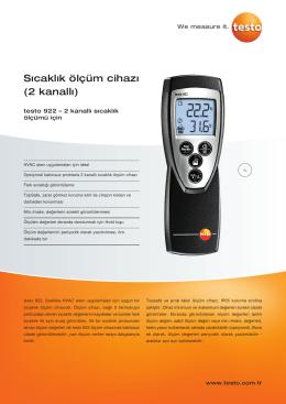 Sıcaklık ölçüm cihazı (2 kanallı)