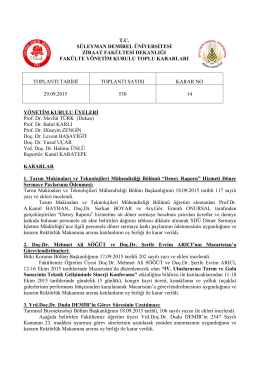 29.09.2015 Tarihli 530 sayılı karar