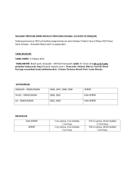 salcano triatlon serisi antalya triatlonu yarışma talimatı
