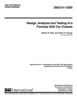 Design, Analysis And Testing Of A Formula Sae Car Chassis