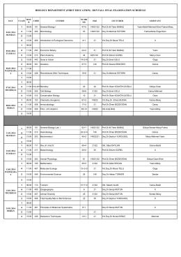 2015 fall fınal examınatıon schedule