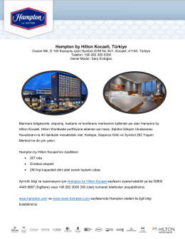 Hampton by Hilton Kocaeli Fact Sheet (Turkish)