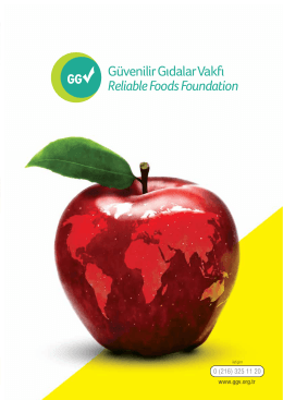 Güvenilir Gıdalar Vakfı Reliable Foods Foundation