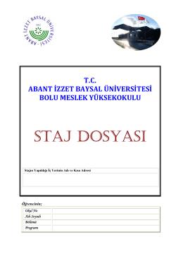 staj defteri - Bolu Meslek Yüksekokulu