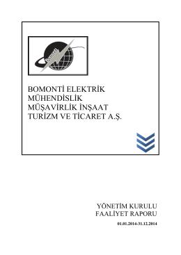 31.12.2014 Yönetim Kurulu Faaliyet Raporu