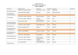 2015-2016 Güz Yarıyılı Final Sınav Programı