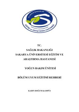 Genel Yoğun Bakım - Sakarya Eğitim ve Araştırma Hastanesi